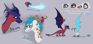Solnar And Sinu - Reference Sheet by IcelectricSpyro