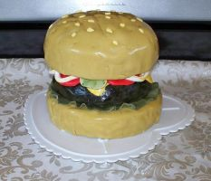Hamburger Cake by TattooSavage