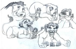 Lion King 1.5 Sketches by shiverz