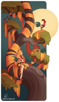 Tree Lady - Year of the Fire Rooster by MeoMai