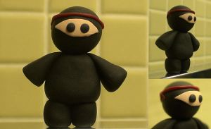 Polymer Clay Ninja by abarra01