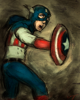 Captain America by nicollearl