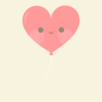 Kawaii Heart Balloon by apparate