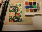 Robin 3 ACEO by WatchuDrawing