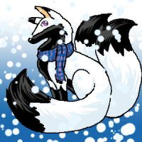 snowy day for a foxdeamon by foxdeamon