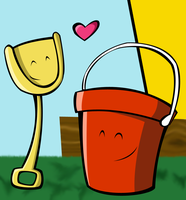 Shovel and Pail by AketA