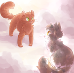 reremake: spottedleaf and firestar by Kitzophrenic