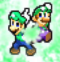 Modern Luigi and Classic Luigi's Thunder Duo Move by FaisalAden