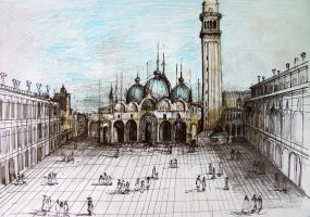 Landscape of Piazza San Marco, Venice by RusuCristian