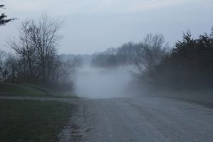 misty road by DavidofArbelaStock
