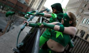 Artemis and Green Arrow by DressUpBarbii