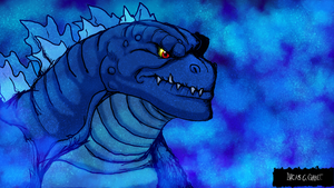 Cartoon Godzilla Underwater by LucasCGabetArts