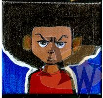 Huey Freeman Mini Canvas Painting by awilli182