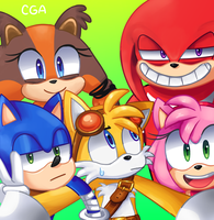 Sonic Boom Selfie by TheDarkShadow1990