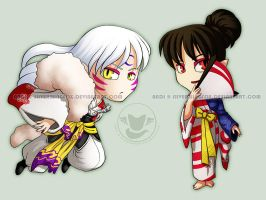 Sesshomaru and Kagura by Silverwingfox
