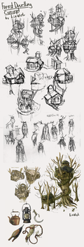 Concept Art - Forest Dwelling by Lizalot