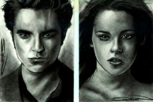 Twilight - Edward and Bella by RandySiplon