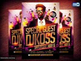 Guest Dj PSD Flyer Template by Industrykidz