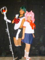 Chibiusa y Sailor Pluto by DaianaMoon
