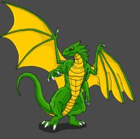 B-Day Request-Green Dragon by Scatha-the-Worm