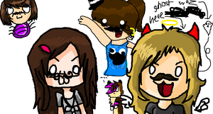 ..Doodling Ourselves On iScribble by xXNobu-KunXx