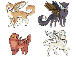 Cat+Owl adopts - ONE LEFT by Valkeera