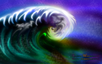 TSUNAMI WATERCOLOUR by CSuk-1T