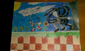 Sonic chase scene with SLENDERMAN by amazerbeta
