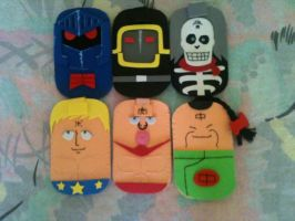 Kinnikuman Colection Mobile Cases by anapeig