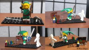 Lego Link and Mummy Legend of Zelda OOAK Custom by TorresDesigns