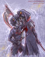Karkat Vantas and The Sufferer scribblething by askerian