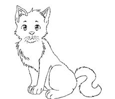 cat lineart by Arkay9