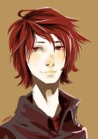 S081 red hair dude lookin at your face by Nyamesiss