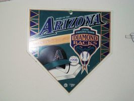 Arizona Diamondbacks Inaugural Season Home Plate by BigMac1212