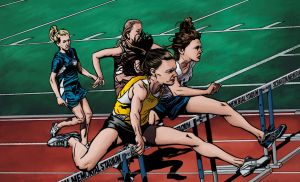 Girls' 100m Hurdles by Maxahiss