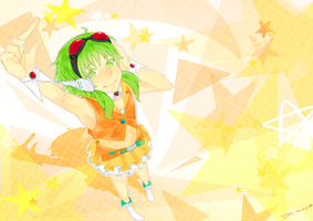 GUMI and stars by IDK-kun