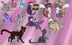 Free Mixed Adoptables Batch 2 (CLOSED) by RoyalMutt