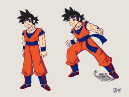 Goku colored by NicParris