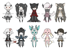Adoptables 17 [CLOSED] by XAngelFeatherX