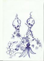 skulls and nature by sasan-ghods