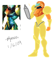 Samus Aran WIP by RatherGoth