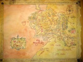 BIG Map of Middle Earth by ThreeRingCinema