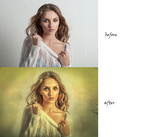 Female Zombie before/after by Shann2j
