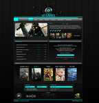 3D Games Layout by Roxas-GFx