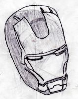 Ironman mask sketch by bmarvel777