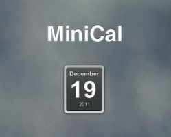 MiniCal for XWidget by pigboat