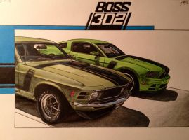 2013 Boss 302/ 1970 Boss 302 by JonOwens