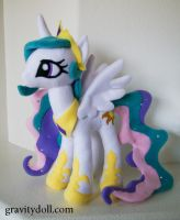 Princess Celestia plush by BrokenPuppet