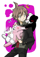 Naegi and the mono's by Tsukiyuki-chan