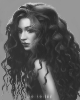 Portrait value study #4 by merkerinn